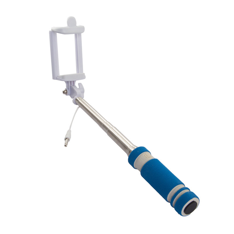 Rekam SelfiPod S-350L, Blue монопод для селфи2303000352Теперь, снимая селфи, вы можете использовать все преимущества вашей камеры и создавать по-настоящему качественные автопортреты с высоким разрешением с помощью монопода Rekam SelfiPod S-350. Он будет незаменим во время прогулок и массовых мероприятий. Для управления имеется удобно расположенная кнопка на рукоятке. Подключается к смартфону через разъем 3,5 мм. В сложенном виде SelfiPod S-350 очень компактен и легко умещается в небольшой сумке и даже кармане. Ручка монопода имеет современный, эргономичный дизайн и выполнена из нескользящего материала.