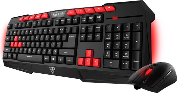 Gamdias Ares V2 Essential Combo клавиатура + мышьGKC100Gamdias Ares V2 Essential + Demeter V2 - комбо-набор, состоящий из клавиатуры с подсветкой и оптической мыши с эргономичным дизайном.Клавиатура Gamdias Ares V2 создана для победы - компактная, легкая, прочная и надежная. В конструкции клавиатуры имеются отверстия для вывода влаги из корпуса, в случае если на неё была пролита жидкость. Нескользящие резиновые ножки могут фиксироваться в нескольких положениях. Оснащена настраиваемой подсветкой в зависимости от предпочтений пользователя и освещенности помещения. 10 горячих клавиш упрощают работу с почтой, поиском, калькулятором, управлением аудио.Оптическая мышь Gamdias Demeter V2 идеальна для любого типа хвата. Имеет оптический сенсор с максимальным разрешением в 3200 dpi. В мышке установлен игровой микропроцессор.Клавиатура:Частота опроса: 1000 ГцМышь:Количество кнопок: 6Жизненный цикл переключателей: 3000000Частота опроса: 125 Гц
