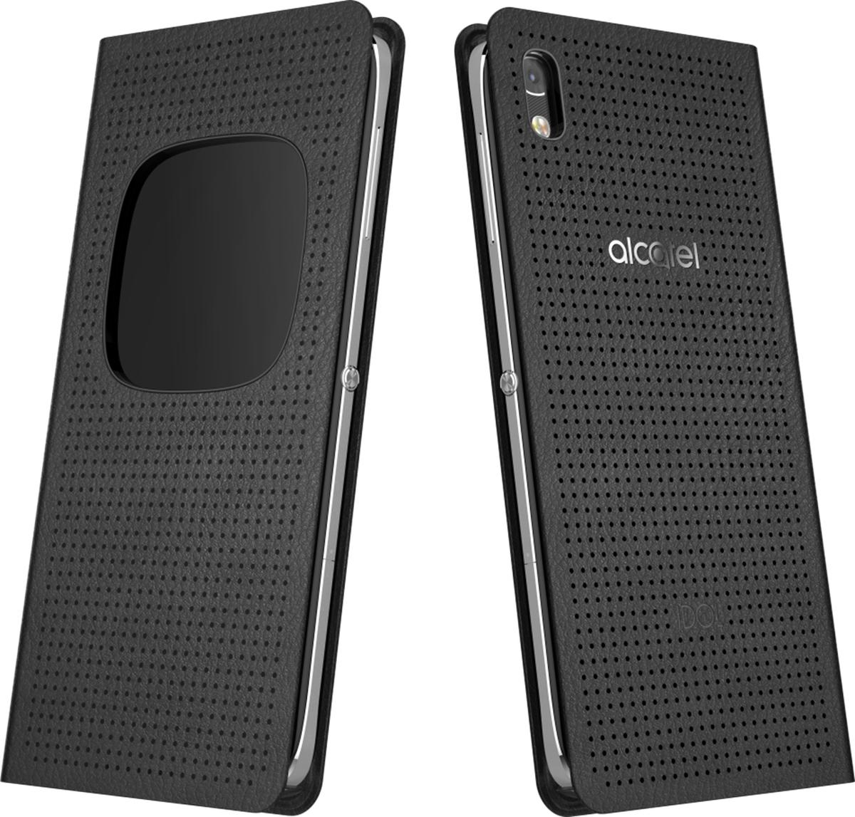 Alcatel MF6055 чехол для Idol 4 (6055K), BlackG6055-3AALMFG-RUЧехол-книжка Alcatel AF5095 для Idol 4 (6055K) надёжно защищает ваш смартфон от пыли, грязи и механических повреждений. Специальное окошко на лицевой стороне позволяет просматривать предупреждения и сообщения с вашего мобильного устройства на ходу, не открывая сам чехол. Конструкция чехла обеспечивает свободный доступ ко всем разъемам и кнопкам управления.
