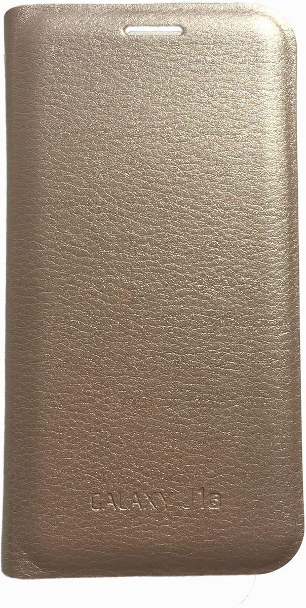 Acqua Wallet Extra чехол для Samsung Galaxy J1, Gold53927Чехол-книжка Acqua Wallet Extra для Samsung Galaxy J1 создан из высококачественных материалов. На внутренней стороне чехла имеется карман для пластиковых карт. Чехол надежно защитит ваш телефон от царапин, сколов и незначительных механических повреждений. Он также обеспечивает свободный доступ ко всем функциональным кнопкам смартфона и камере.