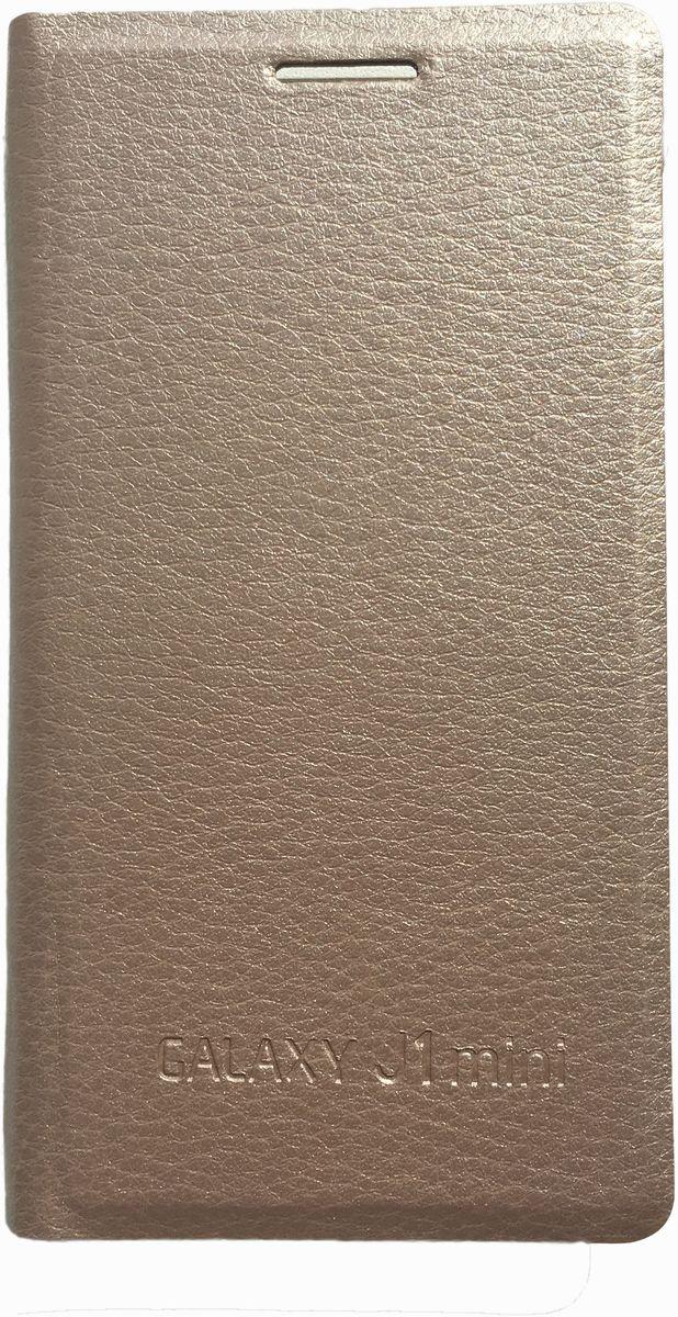 Acqua Wallet Extra чехол для Samsung Galaxy J1 mini, Gold53929Чехол-книжка Acqua Wallet Extra для Samsung Galaxy J1 mini создан из высококачественных материалов. Чехол надежно защитит ваш телефон от царапин, сколов и незначительных механических повреждений. Он также обеспечивает свободный доступ ко всем функциональным кнопкам смартфона и камере.