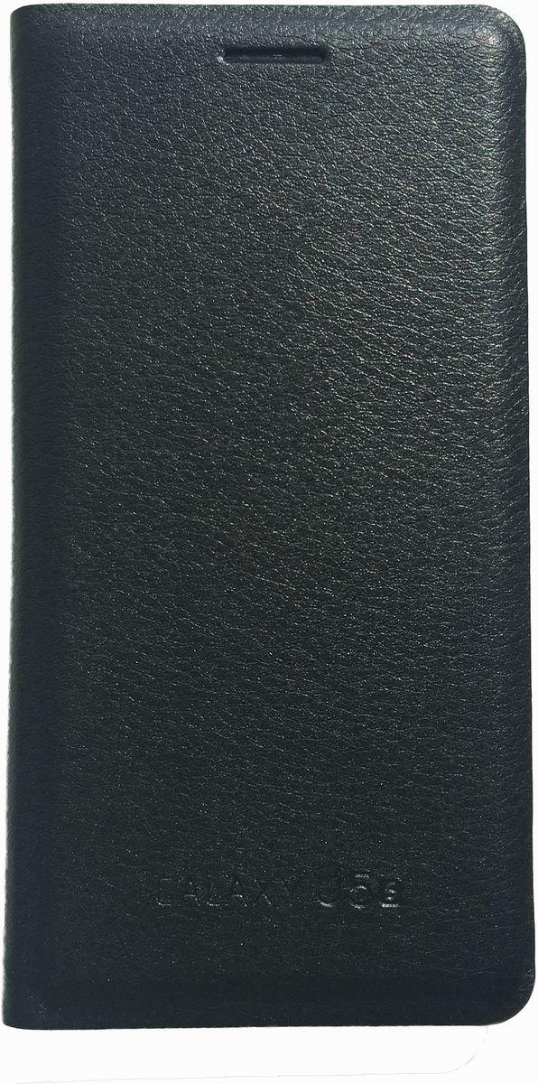 Acqua Wallet Extra чехол для Samsung Galaxy J5, Black54290Чехол-книжка Acqua Wallet Extra для Samsung Galaxy J3 создан из высококачественных материалов. На внутренней стороне чехла имеется карман для пластиковых карт. Чехол надежно защитит ваш телефон от царапин, сколов и незначительных механических повреждений. Он также обеспечивает свободный доступ ко всем функциональным кнопкам смартфона и камере.