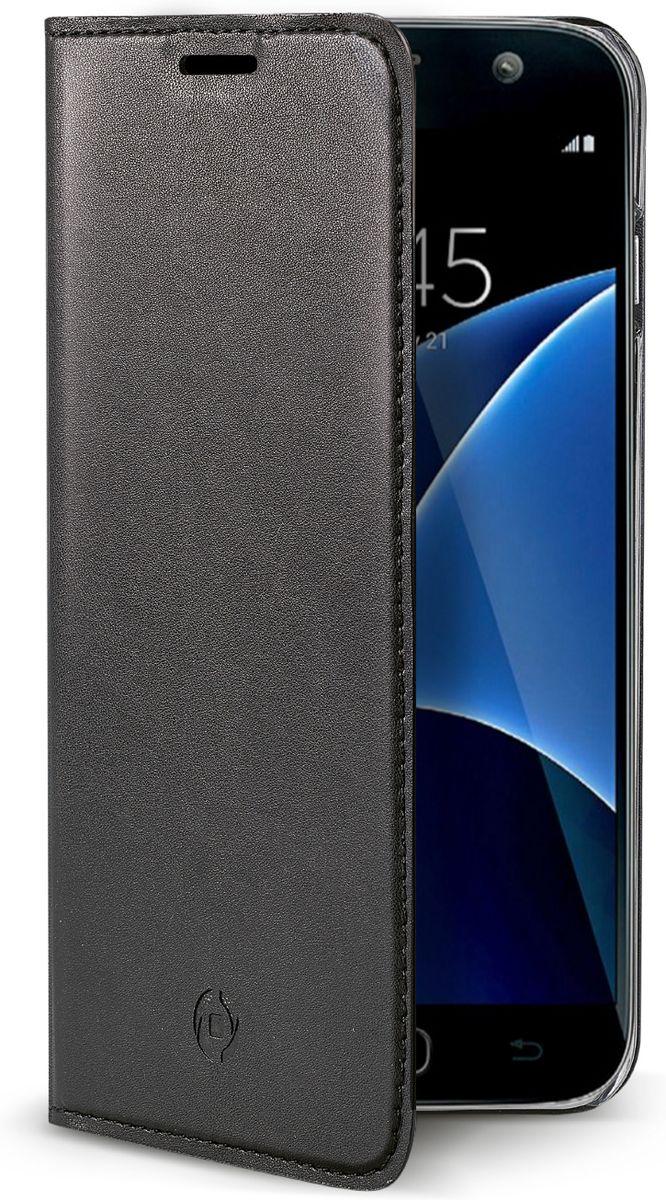 Celly Air Case чехол для Samsung Galaxy S7, BlackAIR590BKЧехол-книжка Celly Air Case для Samsung Galaxy S7 выполнен из высококачественных материалов и практически не увеличивает размер устройства. А благодаря его удобной конструкции все функциональные кнопки и разъемы остаются свободными. Чехол надежно защитит ваш аппарат от царапин и сколов, механических повреждений, а также позволит хранить кредитные карты или визитки в специально отведенном кармашке. Крышка может использоваться как подставка под устройство для удобного просмотра видео.