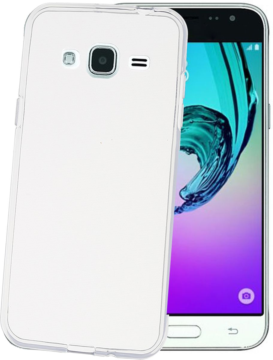 Celly Gelskin чехол для Samsung Galaxy J3, Clear чехол для samsung galaxy j1 2016 sm j120f ds celly gelskin прозрачный