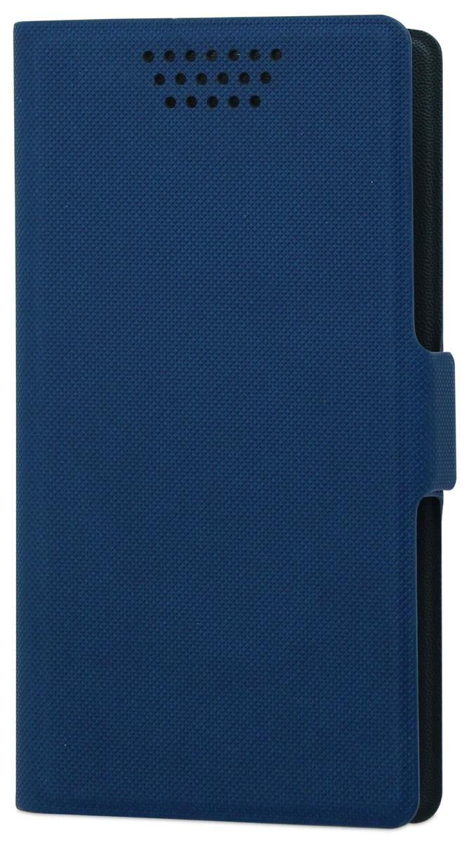 Muvit универсальный чехол для смартфонов 5, BlueMUCUN0281Универсальный чехол-книжка Muvit предназначен для защиты корпуса и экрана смартфона диагональю 5 от механических повреждений и царапин в процессе эксплуатации. Имеется свободный доступ ко всем разъемам и кнопкам устройства. Надежная фиксирующая смартфон внутренняя поверхность. Подходит для смартфонов с любым расположением камеры. Имеет специальный карман для пластиковых карт. На внутренней стороне чехла есть специальная площадка, которая позволяет вращать ваш телефон на 360°.