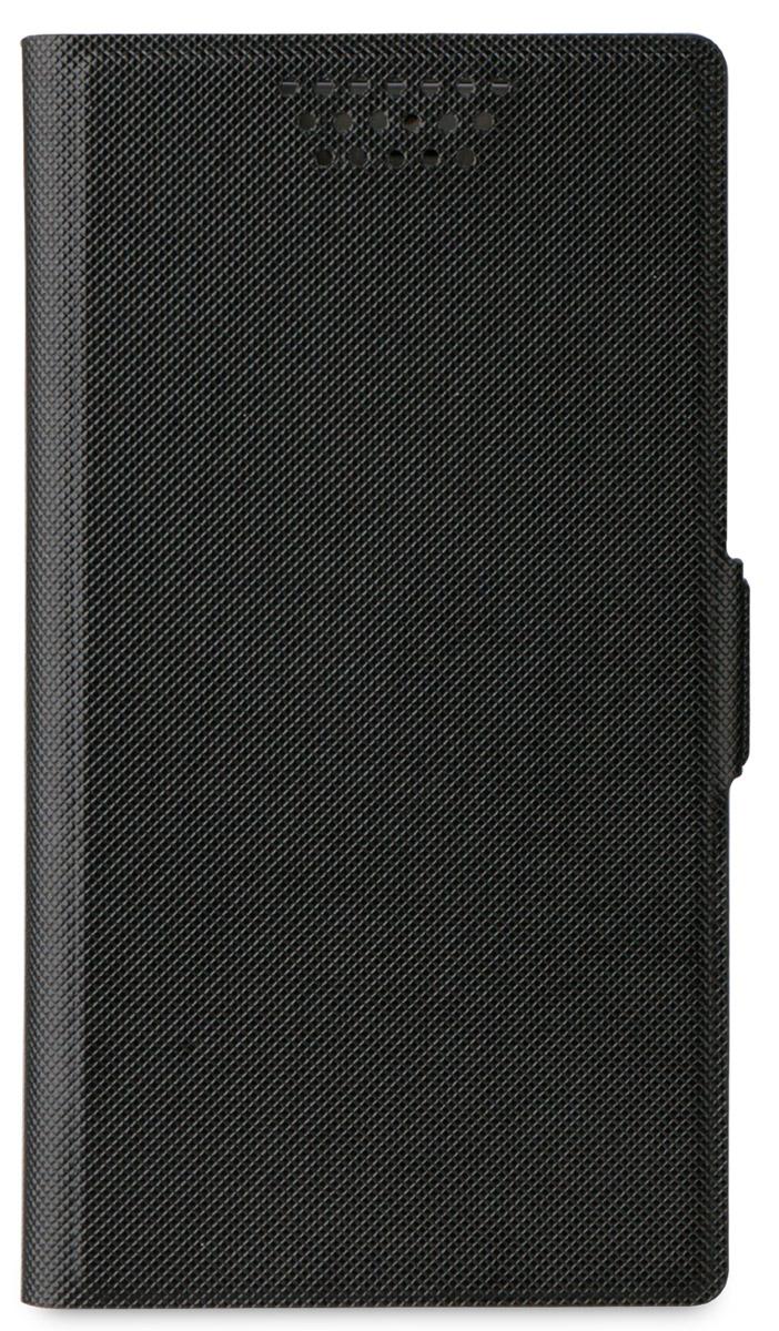 Muvit универсальный чехол для смартфонов 5,7, BlackMUCUN0284Универсальный чехол-книжка Muvit предназначен для защиты корпуса и экрана смартфона диагональю 5,7 от механических повреждений и царапин в процессе эксплуатации. Имеется свободный доступ ко всем разъемам и кнопкам устройства. Надежная фиксирующая смартфон внутренняя поверхность. Подходит для смартфонов с любым расположением камеры. Имеет специальный карман для пластиковых карт. На внутренней стороне чехла есть специальная площадка, которая позволяет вращать ваш телефон на 360°.