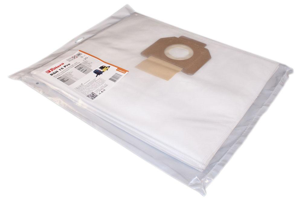 Filtero BSH 15 Pro комплект пылесборников для промышленных пылесосов, 5 штBSH 15 (5) ProМешки для промышленных пылесосов Filtero BSH 15 Pro, трехслойные, произведены из синтетического микроволокна MicroFib. Прочность синтетических мешков Filtero BSH 15 Pro превосходит любые бумажные мешки-аналоги, даже если это оригинальные бумажные мешки всемирно известных марок. Вы можете быть уверены:заклепки, гвозди, шурупы, битое стекло, острые камни и прочее не смогут прорвать мешки Filtero Pro. Мешки Filtero Pro не боятся влаги, и даже вода, попавшая в мешок, не помешает вам произвести качественную уборку!Подходят для следующих моделей пылесосов:BOSCH:GAS 15GAS 1200 LGAS 20 L SFCDEWALT:D 27900FLEX:VC 21 LHILTI:VC 20 UNILFISK-Alto:Aero 20-01Aero 20-11Multi 20 TRYOBI:VC 20SPARKY: VC 1220VC 1321 MSSTIHL:SE 61SE 62КОРВЕТ:362