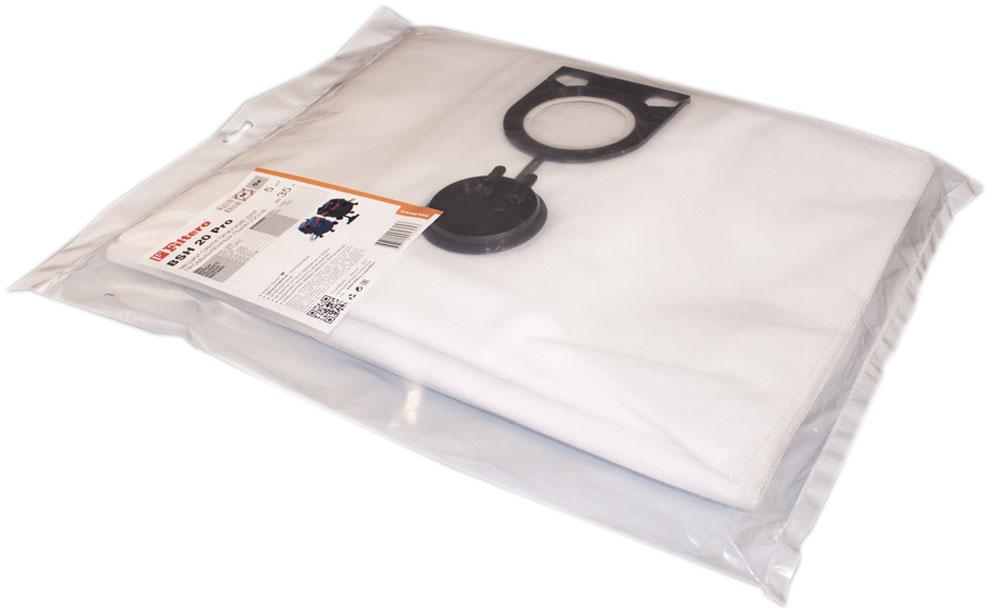 Filtero BSH 20 Pro комплект пылесборников для промышленных пылесосов, 5 штBSH 20 (5) ProМешки для промышленных пылесосов Filtero BSH 20 Pro, трехслойные, произведены из синтетического микроволокна MicroFib. Прочность синтетических мешков Filtero BSH 20 Pro превосходит любые бумажные мешки-аналоги, даже если это оригинальные бумажные мешки всемирно известных марок. Вы можете быть уверены: заклепки, гвозди, шурупы, битое стекло, острые камни и прочее не смогут прорвать мешки Filtero Pro. Мешки Filtero Pro не боятся влаги, и даже вода, попавшая в мешок, не помешает вам произвести качественную уборку!Подходят для следующих моделей пылесосов:AEG:RSE 1400BOSCH:GAS 25 L SFCFELISATTI:VC 25HITACHI:RNT 1225METABO:ASR 2025ASR 25 LASR 35 LASR 35 MSTARMIX:IS ... 1225ISC ... 1425