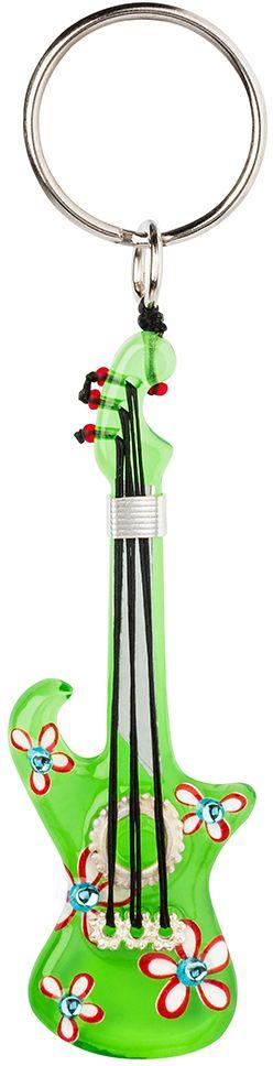 Брелок Lalo Treasures, цвет: салатовый. KR496490016Брелок Lalo Treasures изготовлен из ювелирной смолы ярких цветов. Он выполнен в виде гитары и крепится к кольцу с помощью крепкого шнурка. Оригинальный брелок подчеркнет вашу индивидуальность, а также станет отличным подарком для любительниц модных новинок в мире аксессуаров.
