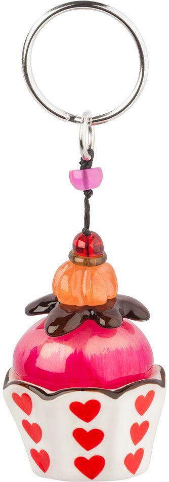 Брелок Lalo Treasures, цвет: белый, розовый. KR4970SvS10-019Брелок Lalo Treasures изготовлен из ювелирной смолы ярких цветов. Он выполнен в виде пирожного и крепится к кольцу с помощью крепкого шнурка. Оригинальный брелок подчеркнет вашу индивидуальность, а также станет отличным подарком для любительниц модных новинок в мире аксессуаров.