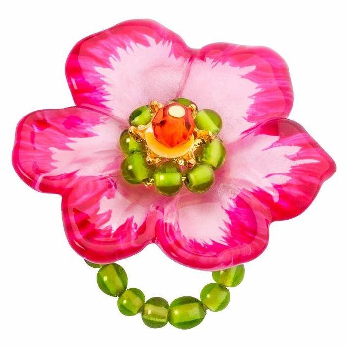 Кольцо Lalo Treasures G&G, цвет: розовый, зеленый. R6969mКоктейльное кольцоИзысканное кольцо оригинального дизайна Lalo Treasures изготовлено из ювелирной смолы ярких цветов.Изделие выполнено в виде утонченного цветка. Скругленные углы элемента идеально подходят для нежных женских пальцев - изящество и сама элегантность. Очень винтажно смотрится на руке.Кольцо Lalo подчеркнет вашу утонченность и изысканный вкус. Изделие регулируется по размеру.