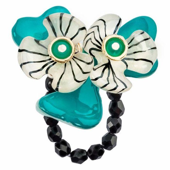 Кольцо Lalo Treasures G&G, цвет: морской волны, золотистый. R6981mКоктейльное кольцоИзысканное кольцо оригинального дизайна Lalo Treasures изготовлено из ювелирной смолы ярких цветов.Изделие выполнено в виде утонченного цветка. Скругленные углы элемента идеально подходят для нежных женских пальцев - изящество и сама элегантность. Очень винтажно смотрится на руке.Кольцо Lalo подчеркнет вашу утонченность и изысканный вкус. Изделие регулируется по размеру.