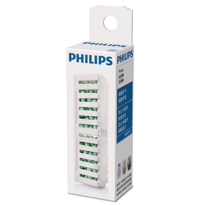 Philips HU4111/01 антибактериальный картридж, 1 штHU4111/01Уникальное антибактериальное средство Philips HU4111/01 предотвращает размножение бактерий и других организмов в резервуаре для воды внутри увлажнителей Philips, обеспечивая дополнительную безопасность для Вас и Вашей семьи.