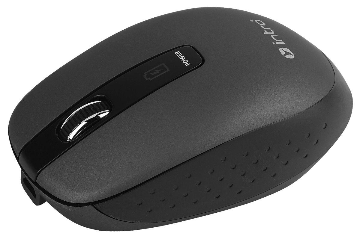 Intro MW540 Wireless, Black беспроводная мышьMW540Важной особенностью Intro MW540 Wireless является возможность зарядки аккумулятора мыши без прекращения работы. В комплекте устройства идет USB-кабель, с помощью которого можно подключать мышь к USB-порту компьютера для подзарядки и при этом продолжать работу. На время зарядки мышь временно превращается в хвостатую.Эргономичный дизайн корпуса разработан для продолжительной работы без ощущения усталости. Радиус действия беспроводной связи составляет 10 метров, что обеспечивает большую свободу действий. Intro MW540 Wireless может работать практически на любой поверхности. Оптический сенсор обеспечивает максимально точное позиционирование курсора.
