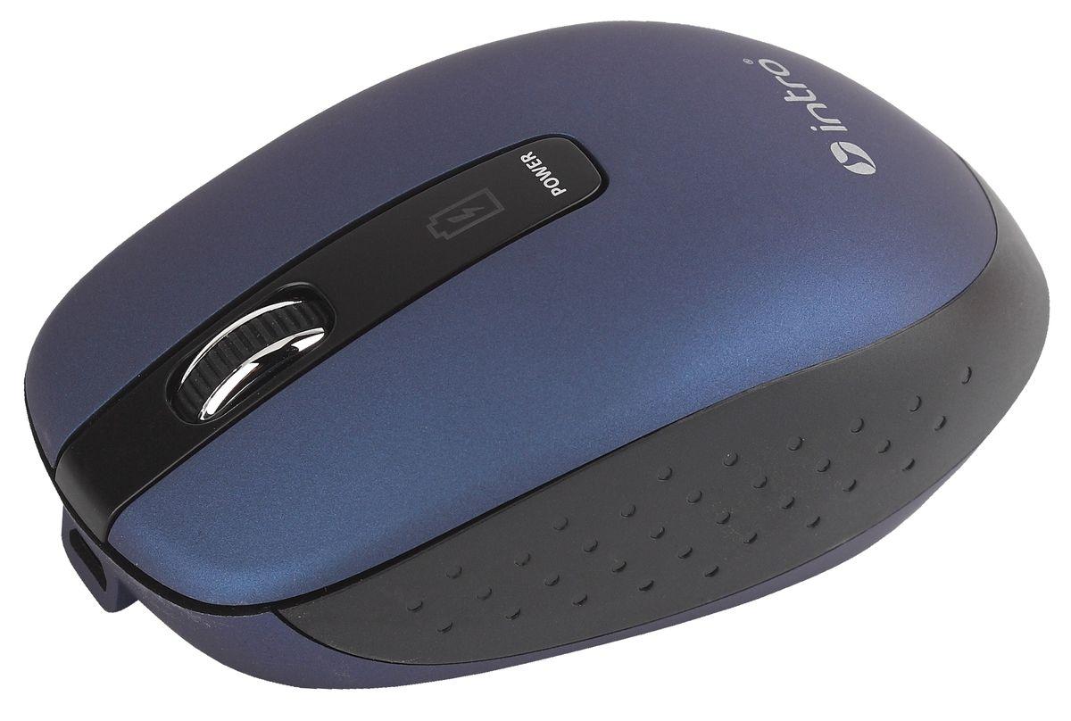 Intro MW540 Wireless, Blue беспроводная мышьMW540Важной особенностью Intro MW540 Wireless является возможность зарядки аккумулятора мыши без прекращения работы. В комплекте устройства идет USB-кабель, с помощью которого можно подключать мышь к USB-порту компьютера для подзарядки и при этом продолжать работу. На время зарядки мышь временно превращается в хвостатую.Эргономичный дизайн корпуса разработан для продолжительной работы без ощущения усталости. Радиус действия беспроводной связи составляет 10 метров, что обеспечивает большую свободу действий. Intro MW540 Wireless может работать практически на любой поверхности. Оптический сенсор обеспечивает максимально точное позиционирование курсора.