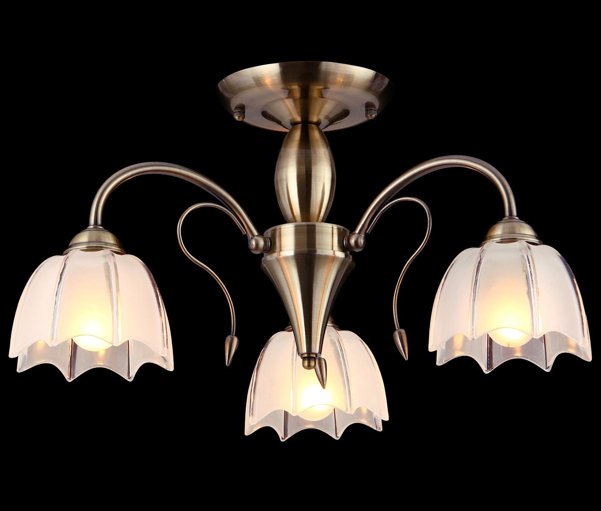 Люстра Natali Kovaltseva, 3 x E14, 60W. 10710/3C10710/3C ANTIQUEЛюстра Natali Kovaltseva, выполненная в классическом стиле, станет украшением вашей комнаты и изысканно дополнит интерьер. Изделие крепится к потолку. Такая люстра отлично подойдет для освещения кабинета, столовой, спальни или гостиной. Люстра выполнена из металла с покрытием под бронзу и снабжена 3 стеклянными плафонами в форме бутона цветка. В коллекциях Natali Kovaltseva представлены разные стили - от классики до хайтека. Дизайн и технологическая составляющая продукции разрабатывается в R&D центре компании, который находится в г. Дюссельдорф, Германия. При производстве продукции используются высококачественные и эксклюзивные материалы: хрусталь ASFOR, муранское стекло, перламутр, 24-каратное золото, бронза. Производство светильников соответствует стандарту системы менеджмента качества ISO 9001-2000. На всю продукцию ТМ Natali Kovaltseva распространяется гарантия.