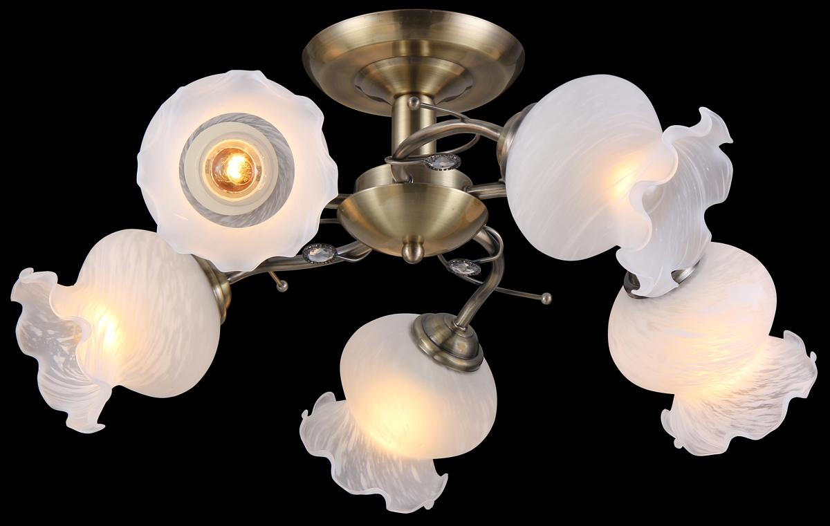 Люстра Natali Kovaltseva, 5 x E27, 40W. 11472/5C11472/5C ANTIQUEЛюстра Natali Kovaltseva, выполненная в классическом дизайне, станет украшением вашей комнаты и изысканно дополнит интерьер. Изделие крепится к потолку. Такая люстра отлично подойдет для освещения кабинета, столовой, спальни или гостиной. Люстра выполнена из металла с покрытием под бронзу и оснащена 5 плафонами из матового стекла в виде бутонов цветка. Изделие дополнено круглыми белыми кристаллами.В коллекциях Natali Kovaltseva представлены разные стили - от классики до хайтека. Дизайн и технологическая составляющая продукции разрабатывается в R&D центре компании, который находится в г. Дюссельдорф, Германия. При производстве продукции используются высококачественные и эксклюзивные материалы: хрусталь ASFOR, муранское стекло, перламутр, 24-каратное золото, бронза. Производство светильников соответствует стандарту системы менеджмента качества ISO 9001-2000. На всю продукцию ТМ Natali Kovaltseva распространяется гарантия.