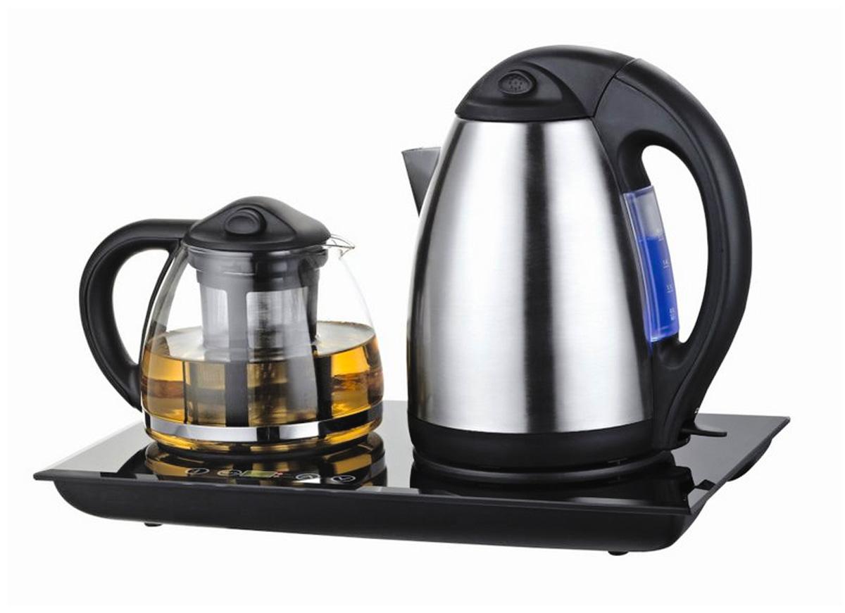 Unit UEK-232, BlackUEK-232Функциональность - быстро вскипятив воду, Вы сможете без труда заварить ароматный чай, желаемой крепостиФункция подогрева - для большего аромата и улучшения вкусовых качеств чай можно подогревать перед каждым чаепитиемКомфорт - набор идеален для безупречной сервировки Вашего чаепитияЕмкость: 1.7 л Мощность: 1850 Вт Скрытый нагревательный элемент Вращение на базе питания на 360° Корпус из нержавеющей стали Автоматическое отключение при снятии чайника с подставки Откидная защелкивающаяся крышка Защита от включения без воды Индикация уровня воды Световой индикатор включения Фильтр от накипи Заварочный чайникЕмкость: 1.2 л Мощность: 70 Вт Стеклянный корпус Ситечко из нержавеющей стали Теплоизолированная ручка Защелкивающаяся крышка, фиксирующая ситечко ПодставкаФункция подогрева Световой индикатор Съемный сетевой шнур Удобные ручки для перемещения Функциональность - быстро вскипятив воду, Вы сможете без труда заварить ароматный чай, желаемой крепости