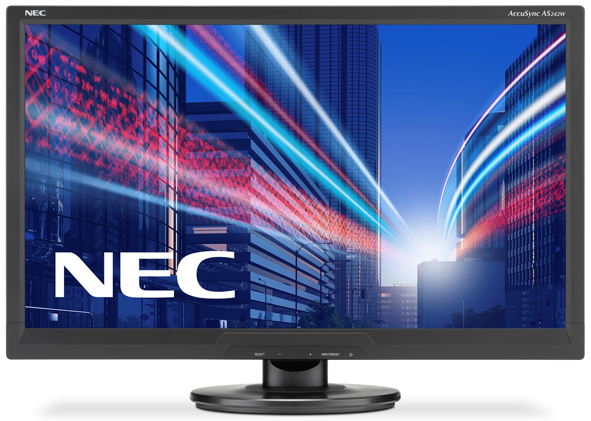NEC AS242W-BK, Black монитор60003810NEC AS242W-BK - ЖК-монитор с новейшей технологией двойной подсветки по доступной цене. Дисплей отличается приятным дизайном и отличными показателями в своем классе. Это идеальный монитор для начинающих, профессиональных и взыскательных пользователей.Работа в зеленом режиме – низкий расход электроэнергии с инновационной технологией светодиодной подсветки или двойной подсветки, работа в эко-режиме и Carbon Footprint Meter / измерительуглеродного следа. Экологические и эргономические характеристики данной модели соответствуют современным стандартами, включая TCO 6.0 и ISO 9241-307. Крепление Vesa (100 мм) позволяет инсталлировать монитор различными способами крепления. Бесплатная загрузка ПО по управлению многоэкранным режимомС помощью NaViSet Администратора 2 вы можете централизованно управлять всеми подключенными дисплеями.