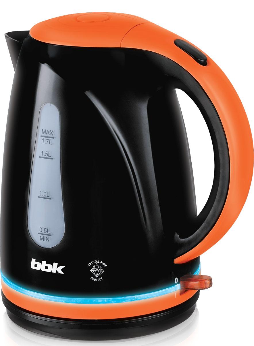 BBK EK1701P, Black Orange электрический чайник