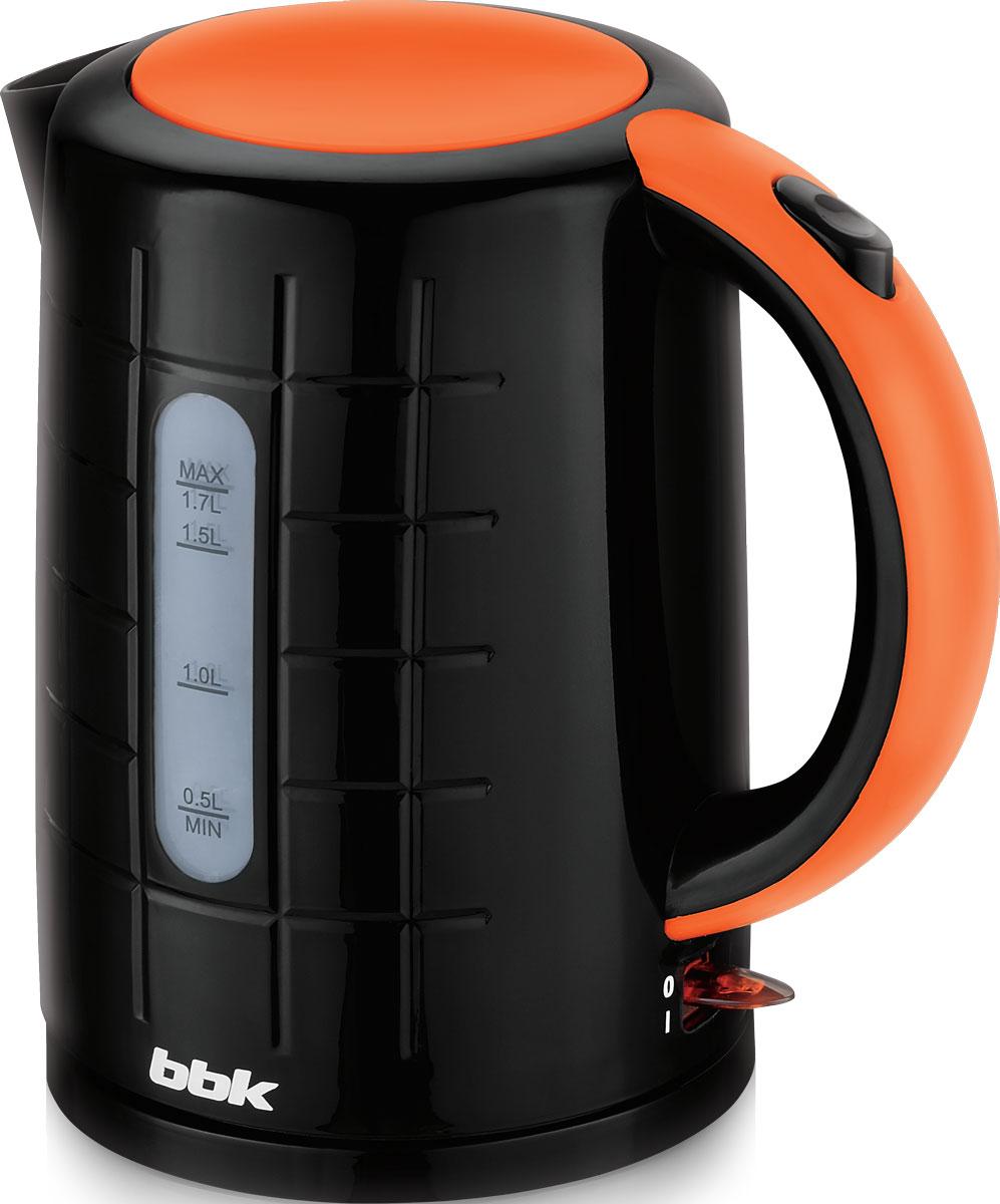 BBK EK1703P, Black Orange электрический чайникEK1703P чер/орЭлектрический чайник BBK EK1703P из термостойкого экологически чистого пластика, мощностью 2200 Bт и емкостью 1,7 литра, - это не просто стильный, но и многофункциональный прибор для вашей кухни. Благодаря английскому контроллеру, установленному в приборе, чайник прослужит в 5 раз дольше обычного, обеспечивая до 15000 закипаний. Модель оснащена многоуровневой защитой: автоматическое отключение при закипании, отключение при недостаточном количестве водыи отключение при снятии чайника с базы. Прибор установлен на удобную подставку с возможностью поворота на 360 градусов и с отделением для хранения шнура. Помимо этого отличительной особенностью является удобный носик для наливания и шкала уровня воды. Съемный фильтр от накипи и скрытый нагревательный элемент гарантированно обеспечат надежность, долговечность и максимально комфортное ежедневное использование.