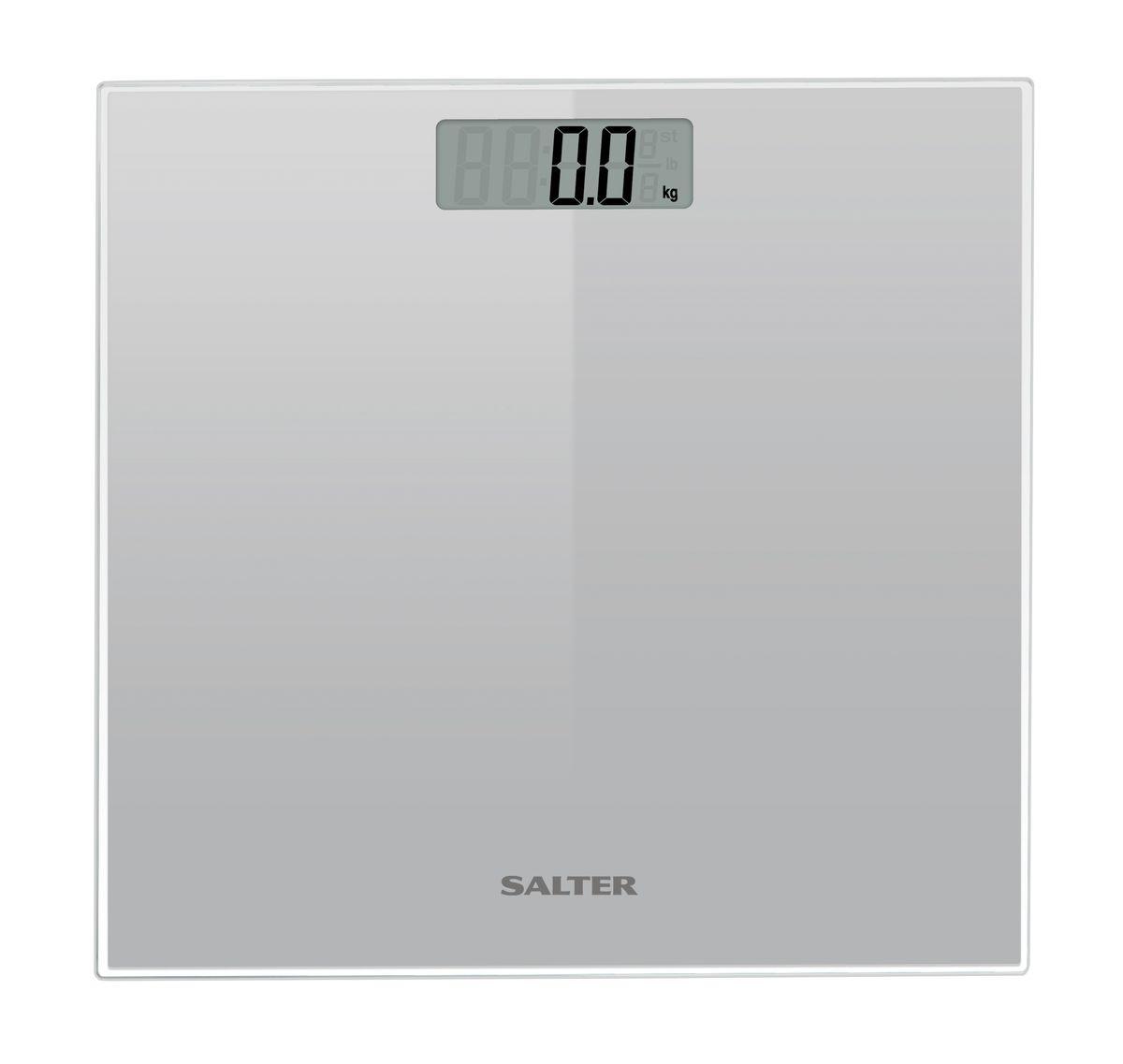 Salter 9037 SV3R напольные весы9037 SV3RНапольные весы стильного дизайнаSalter 9037 SV3R, сверхтонкая стеклянная платформа с красивой прозрачной рамкой. Компактная конструкция для легкого хранения. Легко читаемый широкий дисплей 79 х 28 мм.
