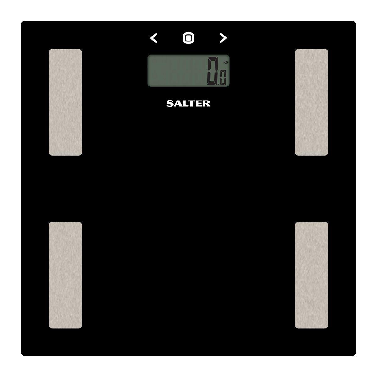 Salter 9150 BK3R напольные весы9150 BK3RДиагностические напольные весы Salter 9150 BK3R.Интеллектуальная шкала для точного мониторинга прогресса в весе для тех, кто тренируется. Сверхтонкая платформа - гладкий современный дизайн, тонкий корпус для удобного хранения. Быстрое измерение. Стильный цвет для поддержания дизайна интерьера вашей ванной комнаты. Специальные ножки для ковра в комплекте, чтобы точно измерять вес на ковре или других неровных поверхностях.