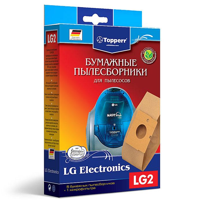 Topperr LG 2 фильтр для пылесосовLG Electronics, 5 шт1017Бумажные пылесборники Topperr LG 2 для пылесосов LG Electronics изготовлены из экологически чистой двухслойной бумаги, соответствующей европейскому стандарту качества, задерживают 99% пыли, продлевая срок службы пылесоса, сохраняют чистоту воздуха и устраняют вредные бактерии.Модели и серии пылесосов:LG Electronics: Storm Extra: V-C 30..; Turbo Storm: V-C 29.., V-C 36.., V-C 374., V-C 38..; Turbo Gamma: V-C 41.., V-C 58..; Magic: V-C 42.., V-C 44.., V-C 61.., V-C 65..; Turbo Max V-C 57.., V-C 58..; Turbo V-C 40.., V-C202..; V-C 62..; V-C4A..; V-C 4B