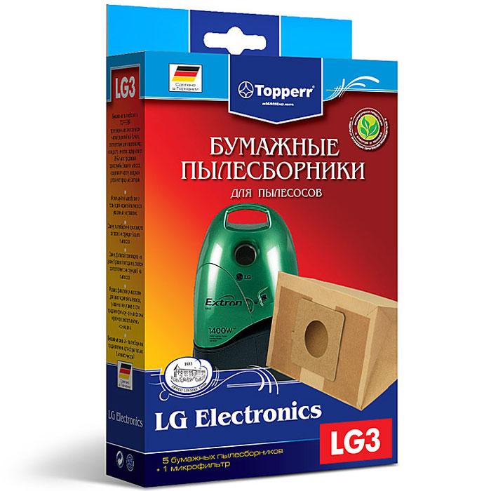Topperr LG 3 фильтр для пылесосовLG Electronics, 5 шт1018Бумажные пылесборники Topperr LG 3 для пылесосов LG Electronics изготовлены из экологически чистой двухслойной бумаги, соответствующей европейскому стандарту качества, задерживают 99% пыли, продлевая срок службы пылесоса, сохраняют чистоту воздуха и устраняют вредные бактерии.Модели и серии пылесосов:LG Electronics: House-sprite I: VC 372., V-C 56..; House-sprite II: VC 371., V-C52..; House-sprite Duo: FVD 370.; House-sprite Super: VC 391..; House-sprite Plus: VC 48..; House-sprite Compact: VC 38...; Turbo Duo: FVD 30..; Turbo: VC 382.., V-C 3014., V-C 3025., V-C 31.., V-C 3E4..., V-C 3E5..., V-C 3E6..., V-C3C.., V-C3G..; Turbo Plus: V-C 34.., VC 59..; Turbo X: V-C 45..; Turbo Z (Storm Plus): V-C 32..; Turbo S: V-C 38..; Turbo Alpha: V-C 55..; Turbo Beta: V-C3A..; Turbo Delta: V-C3B.., Turbo Alta: V-CA6..; Bonn: V-CP9..; Storm: V-C 33.., V-33..; Passion: V-C 35..; Extron: V-C 39.., V-39, V-CP 2..; Sweeper: V-CP 7..; Donau V-CQ 2..; VC 57..; V-C 5A..; V-C 66..; V-CP 6..; V-CC 38.; V-31..; V-33..; V-34..; V-35..; V-39