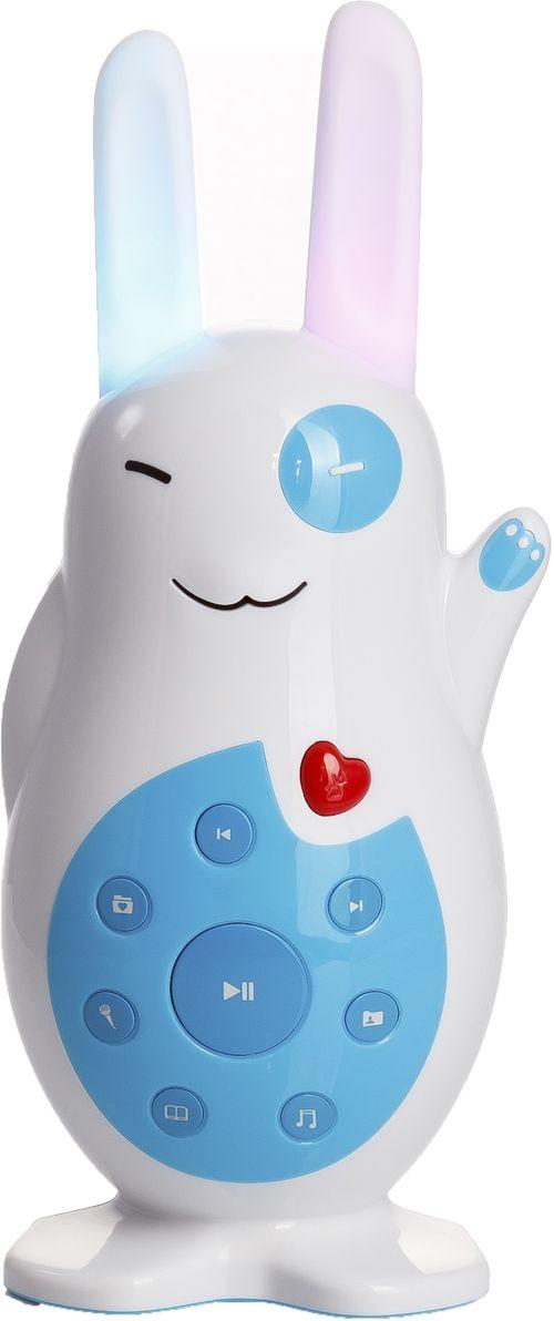 Alilo Ночник-игрушка музыкальный V860903Привет! Меня зовут Классный Зайка. Я незаменимый друг и помощник вашего ребёнка! Я умею проигрывать мелодии, рассказывать сказки и многое другое, ведь я - самая классная игрушка с функцией цифрового медиа плеера для детей.Вы можете подключить меня по Bluetooth к своему телефону, и я воспроизведу для вашего малыша любой контент. Материал корпуса позволяет раскрашивать меня в разные цвета маркерами на водной основе. Мои ушки могут светиться. Чтобы включить их, пожмите мою ладошку. Если вдруг я засну. Вы всегда сможете разбудить меня, нажав на любую кнопку. Чтобы включить/отключить автоматический переход в режим сна, просто нажмите на кнопку и удерживайте её нажатой в течение 2 секунд.Я могу делать всё, что может любая игрушка из серии развивающих игрушек alilo: мои ушки могут служить прорезывателем, а я могу записывать звуки, читать на ночь сказки, петь песенки, светиться мягким светом в темноте, успокаивая ваших деток. Во мне нет изъянов! Я оснащён удобными кнопками, а мой корпус выполнен из очень прочного АВS пластика.Я могу петь песенки, читать рассказы, записывать звуки и голоса и обучать Ваших деток.Я оснащён Bluetooth. Просто подключите меня к смартфону, и я воспроизведу любой контент.Я свечусь мягким белым успокаивающим светом.Благодаря специальному материалу, из которого выполнен мой корпус, ребёнок может меня раскрашивать водными маркерами.Я оснащён литий-ионной встроенной аккумуляторной батареей и могу без устали проработать аж целых 5 часов подряд.У меня есть слот для карты памяти micro SD.Я могу запомнить до 1000 песен и 200 рассказов.Я не пораню ребёнка острым краем и не разобьюсь при падении.Детишкам очень понравится мой короткий хвостик.Мои кнопки интуитивно понятны, и мной так легко управлять.В меня встроен Hi-Fi динамик с функцией подавления басов.Я могу делать качественные записи.Вы можете нажать на кнопку «Пауза», и я запомню, на чём мы остановились.Мой корпус выполнен из прочного ABS-пластика, а ушки - из без