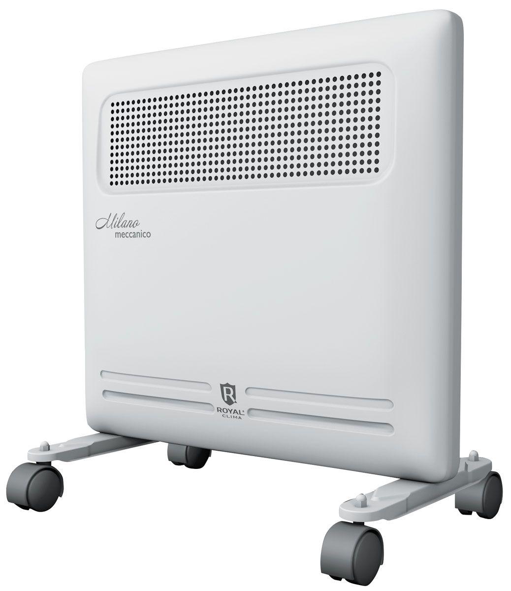 Royal Clima REC-M1000M электрический конвекторREC-M1000MКонвектор Royal Milano Meccanico - это идеальное сочетание высокого качества, производительности и безопасности использования в изысканном итальянском дизайне.Эксклюзивная конструкция воздухораздаточного отверстия увеличенной площади обеспечивает равномерный прогрев всего помещения. Высокая эффективность работы конвектора достигается благодаря литому алюминиевому нагревательному X-элементу X-ROYAL Long Life Heater, который обладает увеличенной площадью теплообмена и сниженной температурой поверхности. Нагревательный элемент нового поколения обеспечивает мгновенный разогрев за 10-20 секунд, высокую эффективность распределения тепла, и при этом не пересушивает воздух и не сжигает кислород.Все необходимые опции и режимы, система безопасной эксплуатации Security Project, легкая установка и эксплуатация делают Royal Milano Meccanico незаменимым для вашего дома.