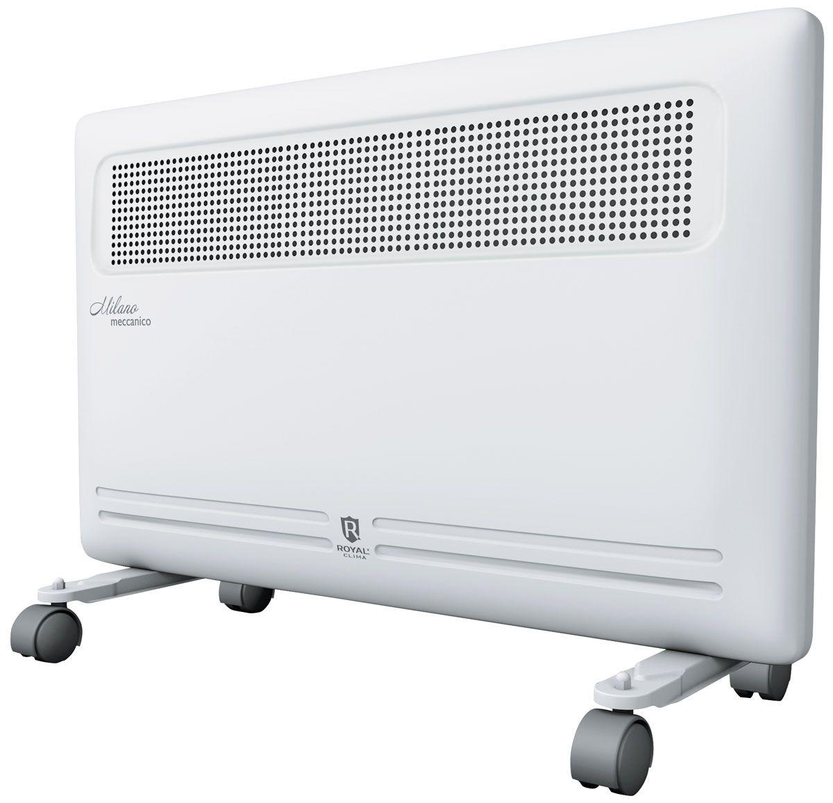 Royal Clima REC-M1500M электрический конвекторREC-M1500MКонвектор Royal Milano Meccanico - это идеальное сочетание высокого качества, производительности и безопасности использования в изысканном итальянском дизайне.Эксклюзивная конструкция воздухораздаточного отверстия увеличенной площади обеспечивает равномерный прогрев всего помещения. Высокая эффективность работы конвектора достигается благодаря литому алюминиевому нагревательному X-элементу X-ROYAL Long Life Heater, который обладает увеличенной площадью теплообмена и сниженной температурой поверхности. Нагревательный элемент нового поколения обеспечивает мгновенный разогрев за 10-20 секунд, высокую эффективность распределения тепла, и при этом не пересушивает воздух и не сжигает кислород.Все необходимые опции и режимы, система безопасной эксплуатации Security Project, легкая установка и эксплуатация делают Royal Milano Meccanico незаменимым для вашего дома.