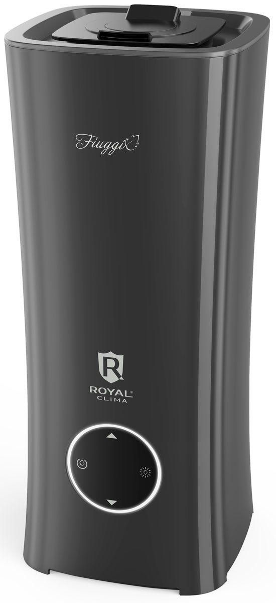Royal Clima Fiuggi RUH-F250/2.5E-GR увлажнитель воздухаRUH-F250/2.5E-GRНовая серия ультразвуковых увлажнителей воздуха Royal Clima Fiuggi - это безусловный прорыв на рынке приборов для обработки воздуха и хит нового сезона. Уникальность серии заключается в первую очередь в совершенно новом подходе к конструкции прибора - полностью литом корпусе без съемного резервуара. Идея создать прибор, который бы на 100% исключил возможность проливания воды между резервуаром и основанием, что является особенностью любого классического увлажнителя, давно стала задачей № 1 для инженеров и промышленных дизайнеров ROYAL Clima. В 2016 году Royal Clima воплотила идею в жизнь. Благодаря тому что прибор не имеет съемного резервуара, проливание, передозировка воды из бака в основание, протекание или подтекание воды исключены на 100%, что, несомненно, делает эксплуатацию прибора намного более приятной и удобной.Помимо уникальной конструкции приборы серии Royal Clima Fiuggi обладают всеми необходимыми функциями и режимами. Оптимальная производительность по увлажнению воздуха 250 мл в час и оптимальный резервуар для воды 2,5 литра обеспечивают до 10 часов непрерывной работы прибора без долива воды в бак. Модель сочетает две функции в одном приборе и оснащена специальной ароматической капсулой, которая расположена непосредственно у распылителя и позволяет использовать увлажнитель в качестве ароматизатора. В комплектацию Royal Clima Fiuggi входят 5 угольных фильтров для очистки воды, рассчитанных на 2 года беззаботной эксплуатации.