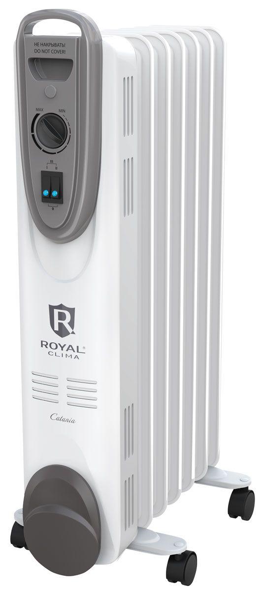 Royal Clima ROR-С7-1500M масляный радиаторROR-С7-1500MНовая серия классических масляных радиаторов серия CATANIA - это безопасный и максимально комфортный обогрев любого помещения. Высочайшие стандарты безопасности радиаторов Royal Clima реализованы системой Security Project, которая включает в себя защиту от перегрева благодаря автоматическому отключению прибора при достижении максимальной температуры нагрева. Для работы радиатора используется только экологически чистое масло после многоступенчатой очистки по стандарту HD 300, что позволяет прибору работать без шума и запаха. Для удобства эксплуатации прибор оснащен высоконадежным механическим термостатом, который автоматически поддерживает желаемую температуру, а также 3-мя режимами нагрева (мягкий, средний и интенсивный) в зависимости от предпочтения пользователя, удобной ручкой для перемещения, опорными ножками с роликами и увеличенной длиной шнура питания 1.5 метра.
