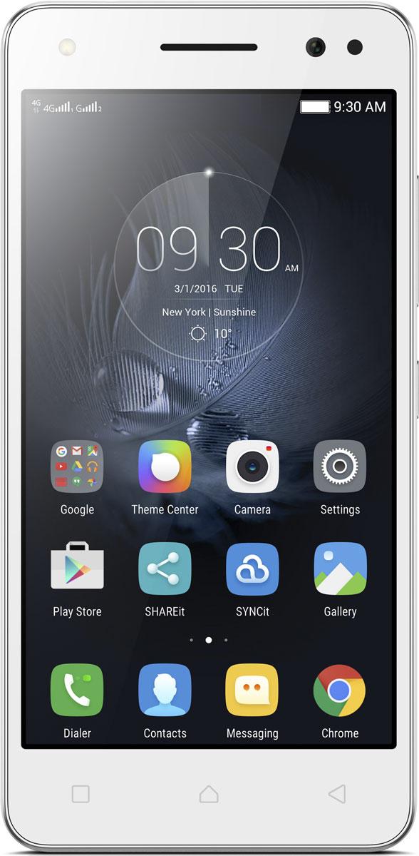 Lenovo Vibe S1 Lite (S1La40), WhitePA2W0012RUСо смартфоном Lenovo Vibe S1 Lite вы окажетесь в центре внимания. Тринадцатимегапиксельная камера позволяет делать потрясающие четкие снимки. Вы получаете небывалые возможности для творчества. Модель Lenovo Vibe S1 Lite - просто загляденье. Передняя панель из стекла повышенной прочности защищает экран от царапин и бликов, благодаря чему изображения выглядят мягче и насыщеннее, а благодаря изогнутой задней панели и превосходно закругленному металлическому корпусу, придающему модели S1 Lite элегантный вид, вы всегда будете выделяться на фоне других. При весе всего 129 грамм вы просто не будете чувствовать тяжести в своих карманах.Lenovo Vibe S1 Lite оснащен двухцветной вспышкой, которая оптимизирует передачу цвета в зависимости от освещения, яркости и температуры, что выводит технику фотосъемки на качественно новый уровень.Оперативная память 2 ГБ и встроенная флеш-память на 16 ГБ с возможностью расширения до 32 ГБ при помощи карты microSD позволяет вам всегда иметь при себе фотографии, музыку, игры и видео.Операционная система Android 5.1 включает в себя множество новых функций, визуальный осмотр и многочисленные улучшения, сделавшие ее быстрее, эффективнее и позволившие меньше расходовать заряд аккумулятора. Она также отлично работает со всеми вашими любимыми приложениями Google.Телефон сертифицирован EAC и имеет русифицированный интерфейс меню и Руководство пользователя.