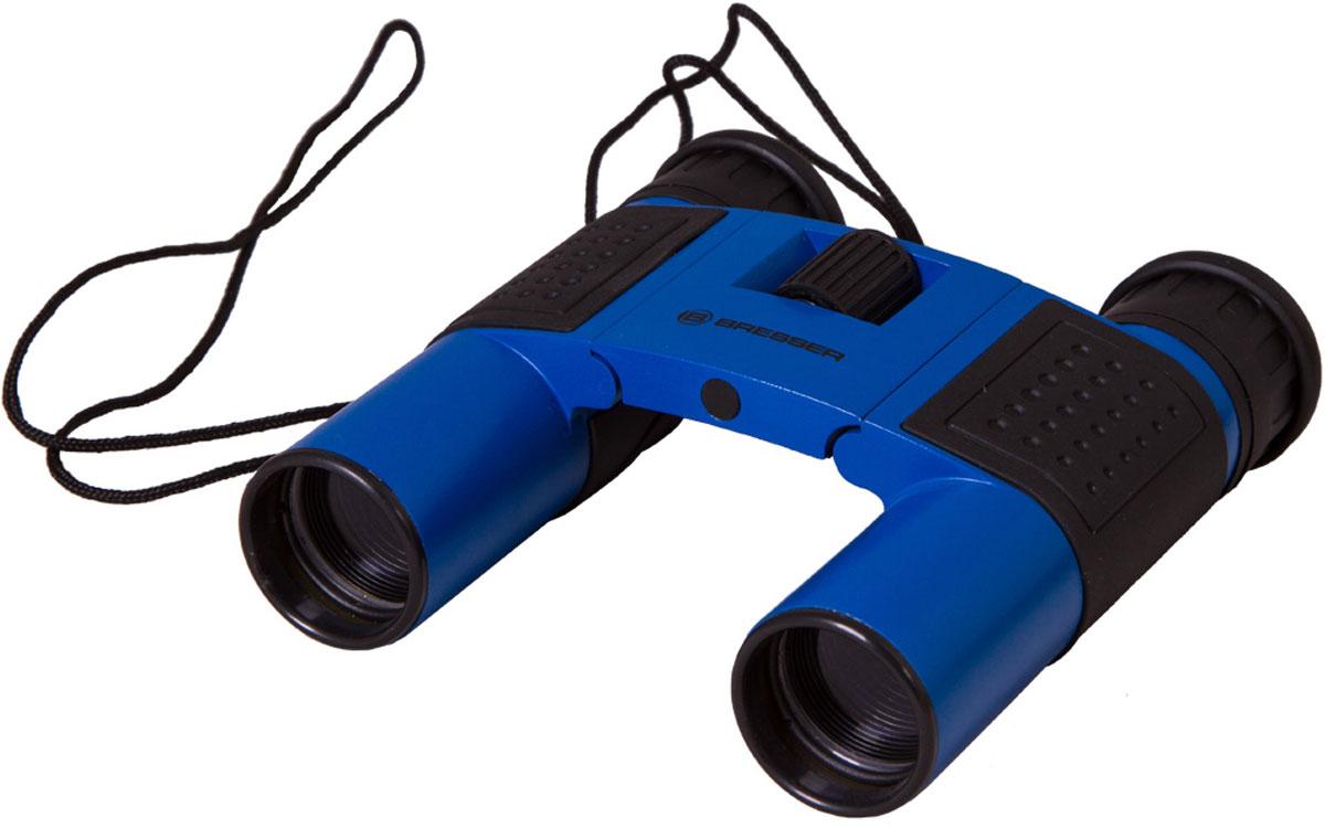 Bresser Topas 10x25, Blue бинокль8911027WXH000Компактный бинокль Bresser Topas 10x25 для туристов, путешественников и натуралистов. Это гармоничное сочетание удобства использования, надежности конструкции и высоких оптических характеристик. Лучше всего этот миниатюрный бинокль проявит себя при дневных наблюдениях: изучении птиц, просмотре спортивных мероприятий, исследовании дикой природы. Благодаря металлическому корпусу он переживет любые дорожные потрясения.Бинокль Bresser Topas 10x25 обеспечит получение качественной и высококонтрастной картинки, правильно передаст цвета и позволит рассмотреть удаленные предметы в мельчайших деталях. Все оптические элементы изготовлены из стекла, а внешние линзы имеют полное просветление. Чтобы сделать картинку максимально четкой, вы можете откорректировать диоптрии окуляров и точно настроить фокус. Можно отрегулировать межзрачковое расстояние, просто переместив оптические трубы. Боковые части бинокля имеют резиновые покрытие для удобства и надежности захвата.