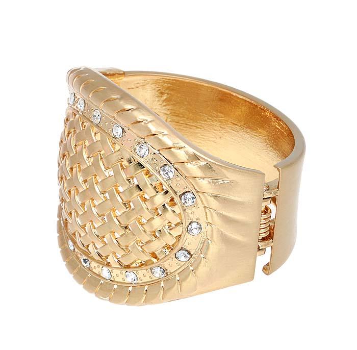 Браслет Патриция от Arrina. Прозрачные кристаллы, бижутерный сплав золотого тона. ГонконгГлидерный браслетБраслет Патриция от Arrina.Прозрачные кристаллы, бижутерный сплав золотого тона.Гонконг.Размер: диаметр 6 см.Сохранность отличная, изделие новое, не было в использовании.
