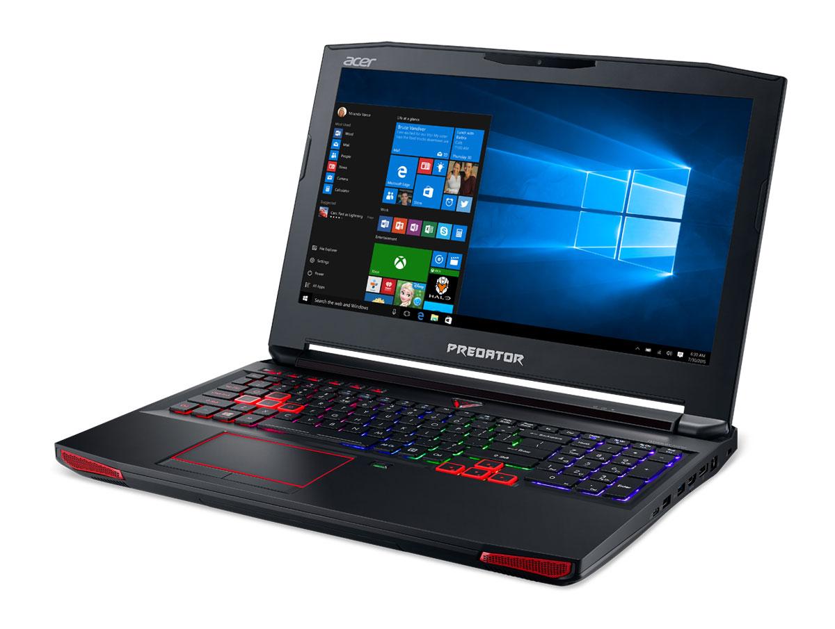 Acer Predator G9-592, Black (G9-592-52LP)G9-592-52LPВпечатляющая мощность и превосходный стиль - все это в одном ноутбуке. Острые и агрессивные черты напоминают космические крейсеры, а выхлопные отверстия сзади дополняют агрессивный дизайн ноутбуку. Acer Predator G9-592 оснащен высокотехнологичным аппаратным обеспечением и инновационной системой охлаждения. В аппаратную конфигурацию ноутбука входит процессор Intel Core i5 шестого поколения, оперативная память DDR4 и дискретная видеокарта NVIDIA GeForce GTX 980M. Мощные компоненты обеспечивают высокую скорость в современных играх и тяжелых приложениях, например при редактировании видео.Легко обжечься в пылу настоящей битвы. Сохраняйте хладнокровие благодаря усовершенствованной технологии охлаждения. Cooler Master поможет снизить температуру и повысить производительность. А решение Predator FrostCore пригодится вам во время жарких игровых баталий.Отсутствие задержек при подключении зачастую решает исход сетевых поединков. Управляйте подключением к Интернету с помощью технологии Killer DoubleShot Pro. Эта технология позволяет выбрать, какие приложения могут получить доступ к драгоценной пропускной способности. И самое главное — она позволяет использовать для доступа в Интернет проводные и беспроводные подключения одновременно.Predator DustDefender защитит основные компоненты вашего устройства от грязи и пыли. Переменное направление воздушного потока и ультратонкий вентилятор толщиной всего 0,1 мм AeroBlade, полностью выполненный из металла и отличающийся улучшенными аэродинамическими характеристиками, защитит устройство от скопления пыли.Благодаря программе PredatorSense в вашем распоряжении окажутся расширенные настройки для создания уникальной игровой атмосферы. PredatorSense предоставляет доступ к таким игровым функциям, как профили макросов клавиатуры, позволяющие переключаться между игровой конфигурацией и регулировать подсветку.Клавиатура Predator ProZone RGB имеет настраиваемые области подсветки, для которых мож