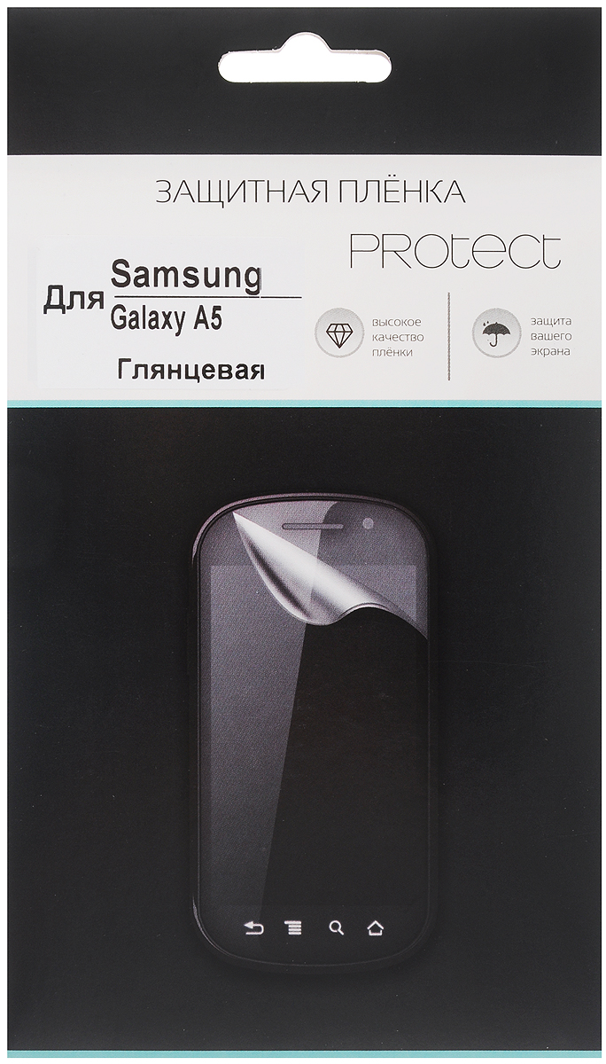 Protect защитная пленка для Samsung Galaxy A5 SM-A500F, глянцевая samsung galaxy a5 sm a500f white