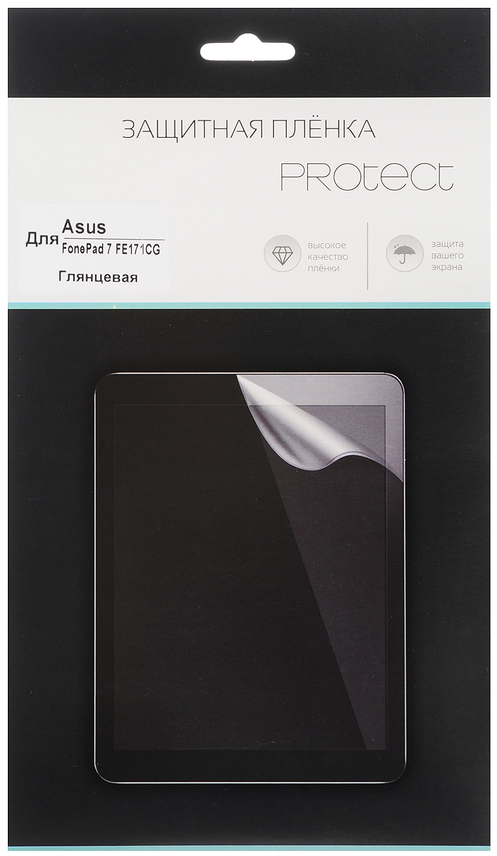 Protect защитная пленка для Asus FonePad 7 FE171CG, глянцевая21748Защитная пленка Protect для Asus FonePad 7 FE171CG предохранит дисплей от пыли, царапин, потертостей и сколов. Пленка обладает повышенной стойкостью к механическим воздействиям, оставаясь при этом полностью прозрачной.