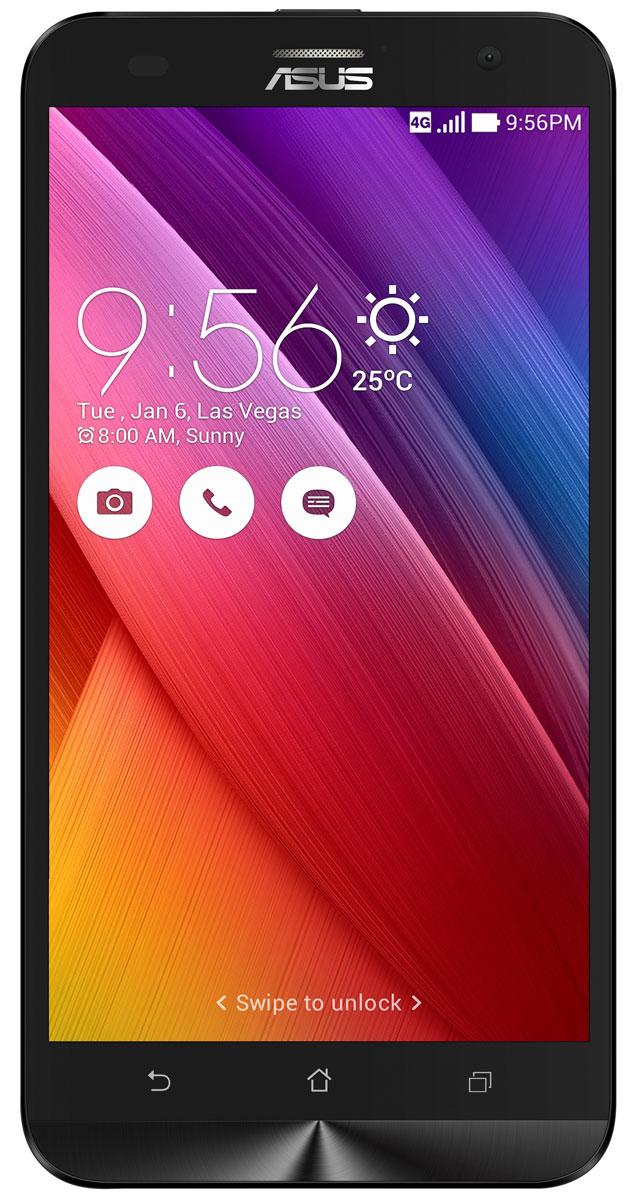 ASUS ZenFone 2 Laser ZE550KL 32GB, Black90AZ00L1-M02710ZenFone 2 Laser (ZE550KL) – это новый смартфон Asus, обладающий красивым и невероятно тонким корпусом с продуманной эргономикой.Смартфон ZenFone 2 Laser (ZE550KL) выполнен в изящном корпусе, толщина боковых граней которого составляет всего 3,5 мм. Обладая эргономичной формой, он украшен традиционным для мобильных устройств Asus узором из концентрических окружностей с углублениями размером 0,13 мм. Оригинальным и весьма удобным решением в его дизайне является расположенная на задней панели корпуса кнопка, с помощью которой можно делать фотоснимки, изменять громкость звука и т.д.Дополнительной компактности корпуса ZenFone 2 Laser (ZE550KL) удалось добиться за счет уменьшения толщины экранной рамки. Отношение размера экрана к размеру передней панели составляет целых 70%!За высокую скорость работы ZenFone 2 Laser (ZE550KL) в различных приложениях отвечает современный процессор Qualcomm, а поддержка LTE означает обмен данными в мобильных сетях на скорости до 150 Мбит/с.Gorilla Glass 4 – последняя версия защитного покрытия дисплея от разработчиков Corning. Она вдвое прочнее предыдущей версии в тесте на падение, обладает в 2,5 раза большей остаточной прочностью и на 85% долговечней при ежедневном использовании.Asus ZenFone 2 Laser (ZE550KL) оснащается 13-мегапиксельной камерой для съемки фотографий и видео в высоком разрешении. Отличительной особенностью модели является лазерная фокусировка, которая минимизирует смазывание изображения за счет моментального срабатывания. В устройстве реализовано множество технологий и функций, направленных на улучшение качества фотоснимков.В режиме низкой освещенности камера смартфона объединяет каждые четыре пикселя датчика изображения в один для увеличения светочувствительности на 400%. При этом также минимизируется цветовой шум и увеличивается контрастность.В смартфоне Asus ZenFone 2 Laser (ZE550KL) реализован пользовательский интерфейс ZenUI, разработанный специально для мобильных у