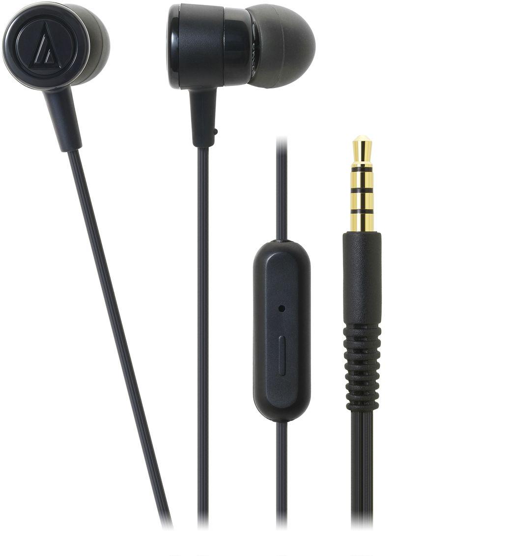 Audio-Technica ATH-CKL220iS, Black наушники15118456Вставные наушники с микрофоном Audio-Technica ATH-CKL220iS являются обновлённой версией модели ATH-CKL202iS. Это универсальные вставки с пассивной шумоизоляцией, предназначенные для каждодневного использования с телефонами, смартфонами и другими гаджетами. Имеется пульт на кабеле с микрофоном и кнопкой, позволяющей принимать звонок и заканчивать разговор, запускать аудио/видео и ставить воспроизведение на паузу. ATH-CKL220iS - стильная, производительная и доступная гарнитура.Тип микрофона: электретный, конденсаторныйДиапазон частот микрофона: 100-10000 ГцЧувствительность микрофона: -44 дБДрайверы диаметром 8,5 мм обеспечивают качественный звук для всех музыкальных жанровЭргономичный дизайн вставных амбушюров гарантирует комфортную посадкуКабель с защитой от спутывания, экранировкой от шумов и механически изменяемой длиной натяженияЧетыре пары амбушюров в комплекте