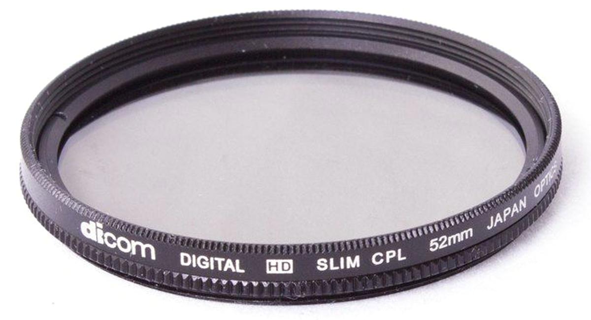 Dicom D-CPLS52 CPL Slim тонкооправный фильтр (52 мм)D-CPLS52Фильтр Dicom D-CPLS52 CPL Slim в металлической ультратонкой оправе толщиной 5,45 мм. Удаляет нежелательные блики и отражения от неметаллических поверхностей (стекло, вода). Повышает насыщенность цвета, позволяя создавать глубокие, объемные кадры. Двухкомпонентная конструкция.