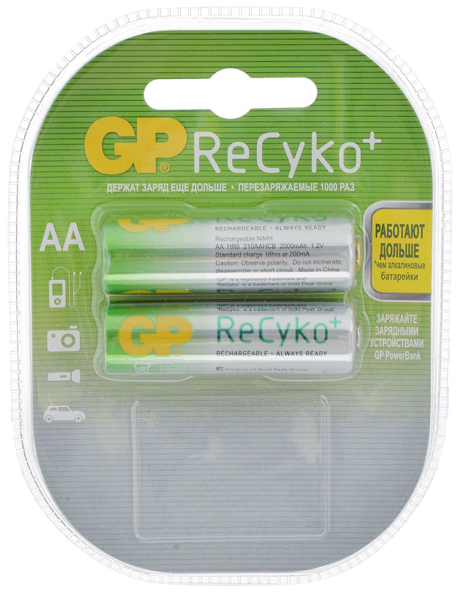 Набор предзаряженных аккумуляторов GP Batteries  ReCyko+ , тип АА, 2000 мАч, 2 шт - Батарейки и аккумуляторы