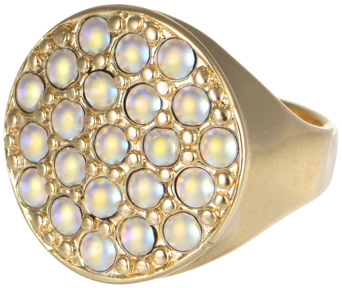 Кольцо Jenavi Франциска. Лош, цвет: розовое золото. j724p070. Размер 17Коктейльное кольцоКольцо Jenavi Лош из коллекции Франциска изготовлено из гипоаллергенного ювелирного сплава с позолотой и украшено радужными кристаллами Swarovski. Очарованию этого аксессуара невозможно противостоять. Это позолоченное кольцо станет прекрасным аксессуаром для современной модницы, которая любит демонстрировать передовые взгляды и надевать самые актуальные украшения.