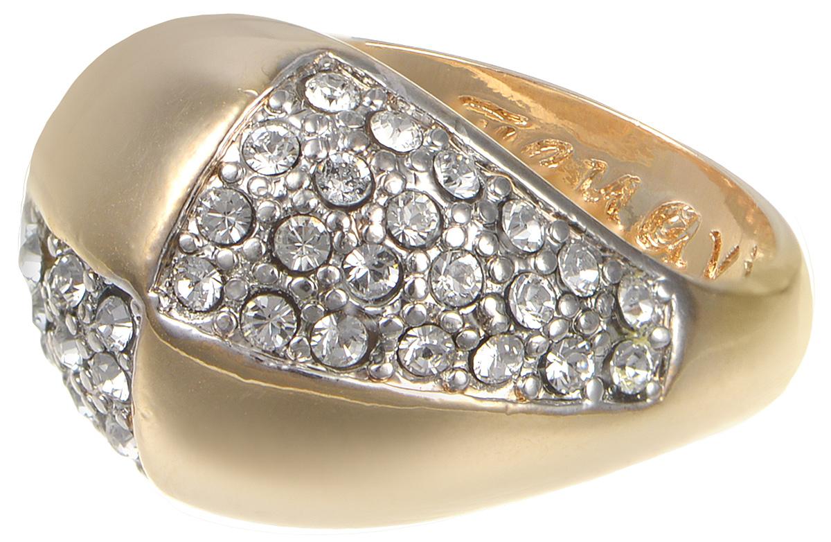 Кольцо Jenavi Озон. Хорвард, цвет: золотой. j957q000. Размер 17Коктейльное кольцоКольцо Jenavi Ховард из коллекции Озон изготовлено из гипоаллергенного ювелирного сплава с позолотой и инкрустировано россыпью ярких кристаллов Swarovski. Отблески солнечного сияния в каждом из камней не потускнеют ни при каких обстоятельствах. Такое украшение подкупает своей простотой и в тоже время элегантностью. Оно станет прекрасным аксессуаром для современной модницы, которая любит демонстрировать передовые взгляды и надевать самые актуальные украшенияИзделие декорировано тиснением с названием бренда изнутри.