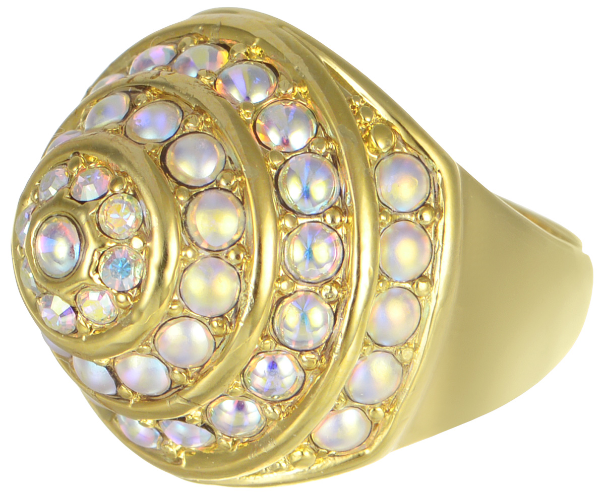 Кольцо Jenavi Франциска. Ландэ, цвет: золотой, мультиколор. j717p070. Размер 18Коктейльное кольцоКольцо Jenavi Ландэ из коллекции Франциска изготовлено из гипоаллергенного ювелирного сплава с позолотой и украшено радужными кристаллами Swarovski. Очарованию этого аксессуара невозможно противостоять. Это позолоченное колечко станет прекрасным аксессуаром для современной модницы, которая любит демонстрировать передовые взгляды и надевать самые актуальные украшения.