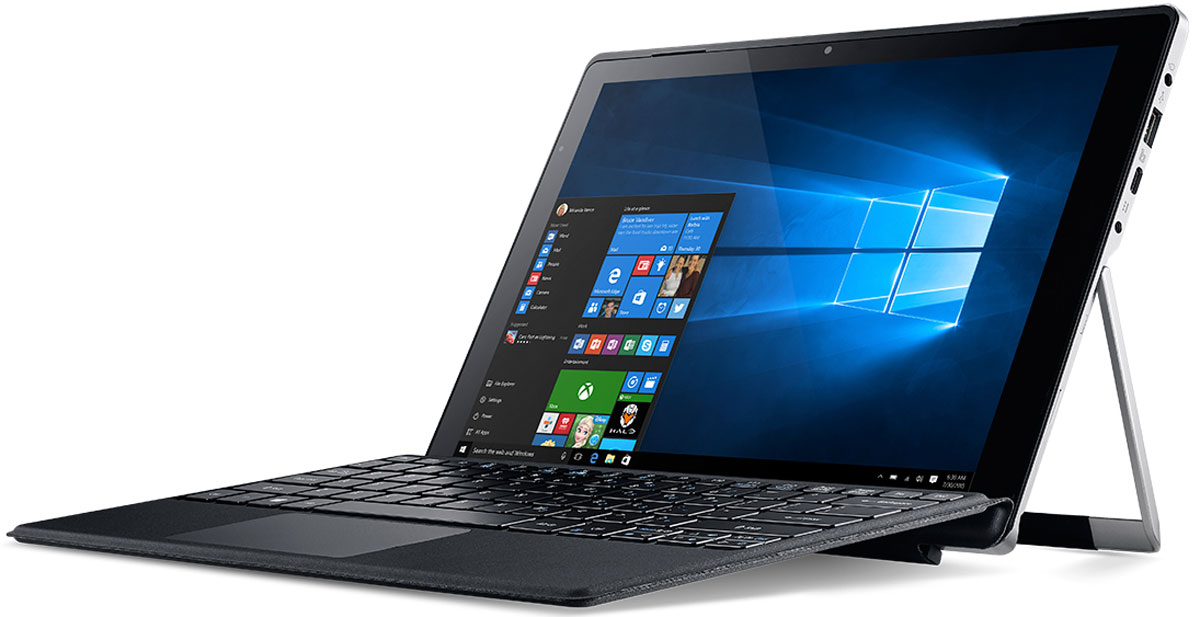 Acer Aspire Switch Alpha 12 (SA5-271-57QJ)NT.LCDER.007Acer Aspire Switch Alpha 12- превосходная производительность без лишнего шума.Портативный корпус с регулируемым экраном и полноразмерной клавиатурой позволяет эффективно работать в любом месте. Подставку можно откидывать на 165° для максимального удобства просмотра. Благодаря резиновой противоскользящей полосе экран остается в нужном положении.Полноразмерная клавиатура с механизмом крепления на магнитных соединителях обеспечивает удобство набора текста и выполняет функцию защиты экрана. Switch Alpha 12 не занимает много места в сумке, поэтому его можно брать с собой куда угодно.Центральный процессор с системой жидкостного охлаждения и превосходные базовые функции обеспечивают отличную производительность. Безвентиляторная система охлаждения Acer LiquidLoop повышает производительность центрального процессора без шума.Порт USB 3.1 Type-C позволяет максимально передавать данные и осуществлять потоковую передачу видео с высоким разрешением на экраны 4K, а также заряжать устройство.Насладитесь великолепным звучанием и изображением благодаря 12-дюймовому сенсорному экрану с разрешением 2160 x 1440 и двум фронтальным динамикам.Разрешение тыловой камеры: 5 МпиксРазрешение фронтальной камеры: 2 МпиксТочные характеристики зависят от модификации.Ноутбук-планшет сертифицирован EAC и имеет русифицированную клавиатуру и Руководство пользователя.