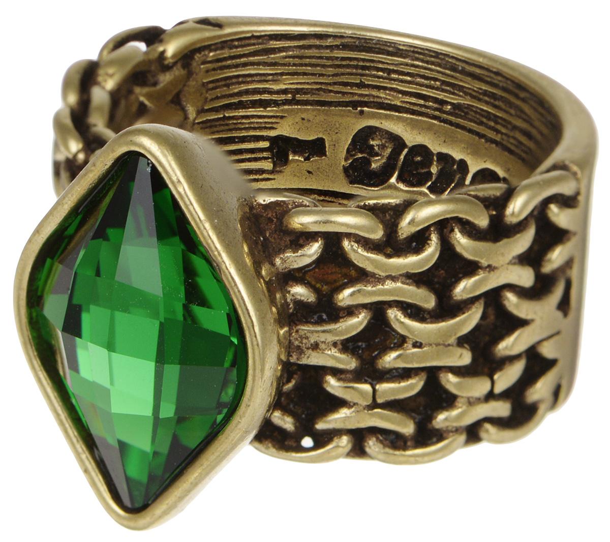 Кольцо Jenavi Relax. Истирахат, цвет: бронзовый, зеленый. r972w032. Размер 20Коктейльное кольцоИзысканное кольцо JenaviRelax. Истирахат изготовлено из качественного металла с бронзовым покрытием. Изделие выполнено в оригинальном дизайне и дополнено тисненой надписью с названием бренда на внутренней стороне. Декоративная часть оформлена кристаллом Swarovski. Такое стильное кольцо идеально дополнит ваш образ и подчеркнет вашу индивидуальность.