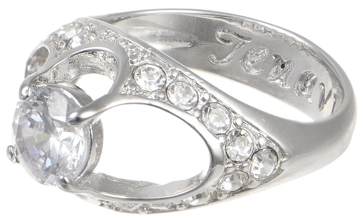 Кольцо Jenavi Teona. Чифара, цвет: серебряный. f422f0a0. Размер 17Коктейльное кольцоЭлегантное кольцо JenaviTeona. Чифара изготовлено из качественного металла с покрытием из серебра с родированием. Изделие декорировано вставками из фианита и стразов. Внутренняя сторона кольца дополнена тисненой надписью с названием бренда. Такое стильное кольцо идеально дополнит ваш образ и подчеркнет вашу индивидуальность.